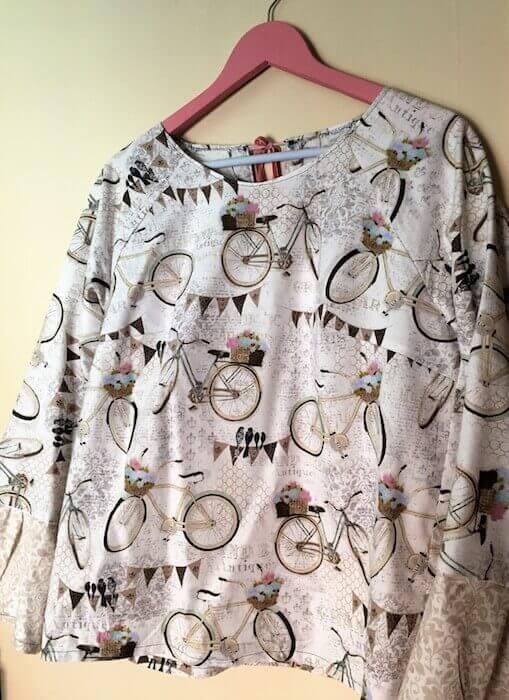 cómo hacer una blusa con volante en la manga