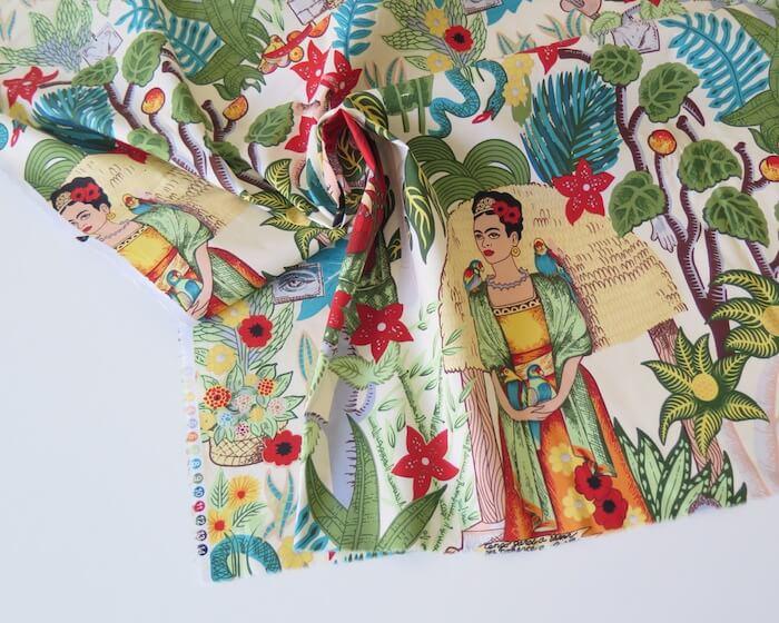tela estampada frida kahlo