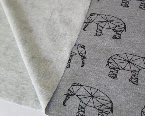 tela sudadera elefantes