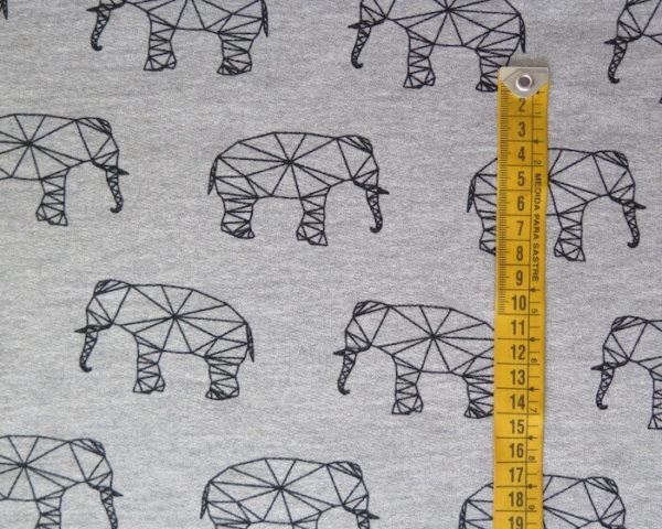 tela sudadera estampada elefantes