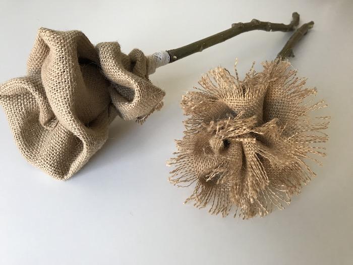 cómo hacer flores de yute