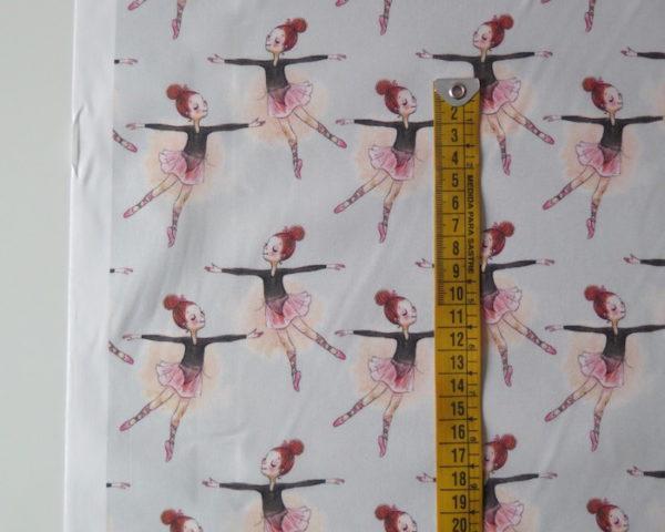 tela estampada bailarinas