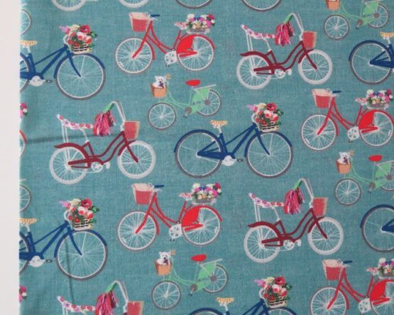 tela infantil bicicletas