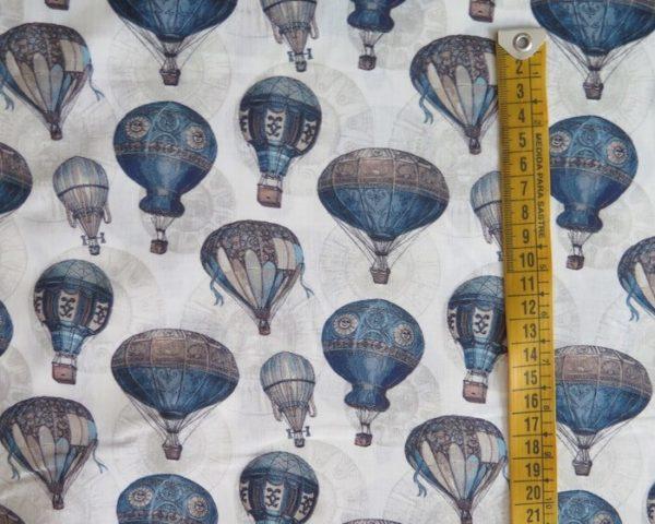tela estampada globos aerostaticos