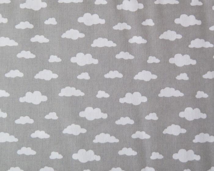 tela infantil nubes gris