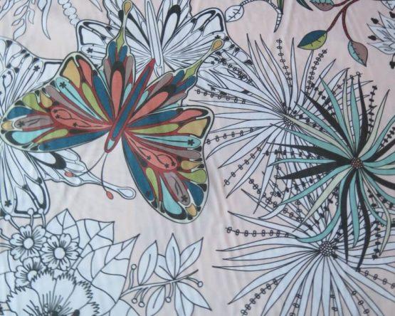 tela estampada infantil floralia