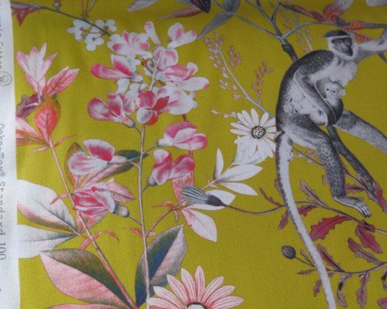 tela loneta estampada monos