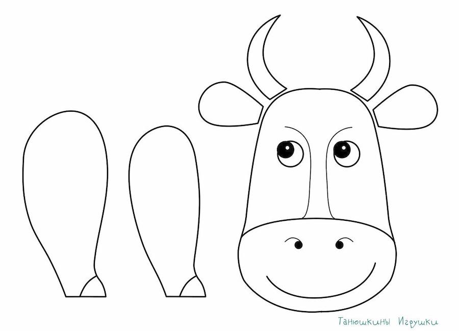 como hacer una vaca de tela