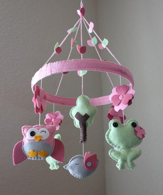 Ideas para hacer móviles de bebé